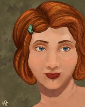 """""""Portrait of Catelyn Stark"""" by Wendy D. Bateman"""