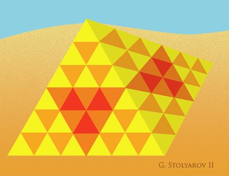 """Tesselated Pyramid"" by G. Stolyarov II"